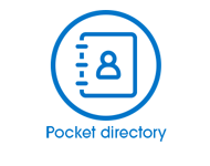 Pocket directory button