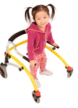 Photo of girl in a walker at the Children's Wisconsin-Fox Valley Hospital Community Programs