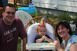 Parents With Child First Birthday